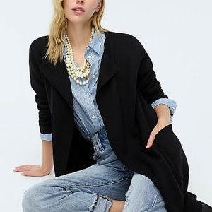 J. Crew / Navy Juliette Collarless Sweater-Blazer